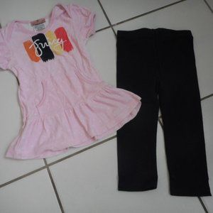 New JUICY COUTURE Girls 18 24 M Tunic Leggings Set